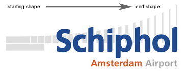 Schiphol new logo, the shape