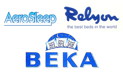 Aerosleep, Relyon, Beka.