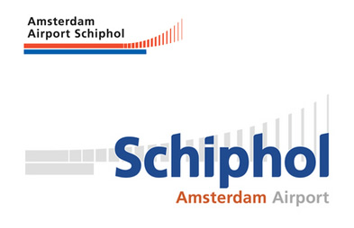 Schiphol logo, old and new.