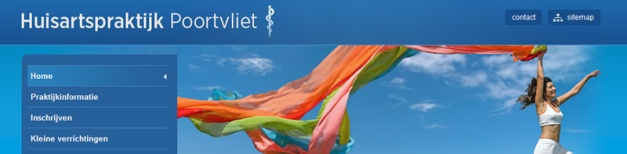 The internet site of General Medical Practitioners Poortvliet, Holland.