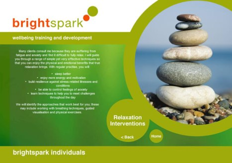 The internet site of Brightspark Relaxation.